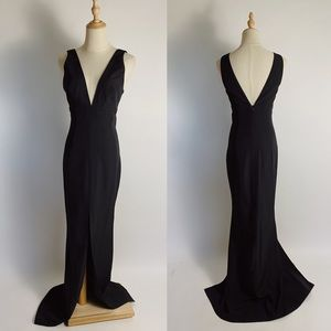 NWT ABYSS by ABBY Luna Full Length Gown Blck Small